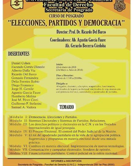 ELECCIONES, PARTIDOS Y DEMOCRACIA