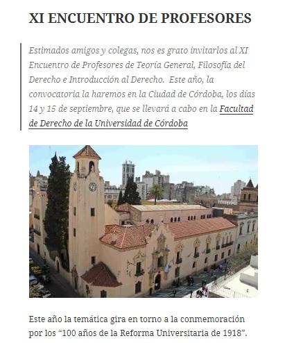 XI Encuentro de Profesores de Teoría General, Filosofía del Derecho e Introducción al Derecho