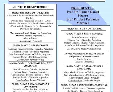 Jornadas Internacionales de Derecho Civil - Moisset de Espanés