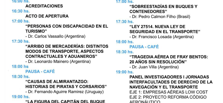 Seminario Internacional de Derecho de la Navegación, Transporte, Aduanero y Turismo - Córdoba 2019