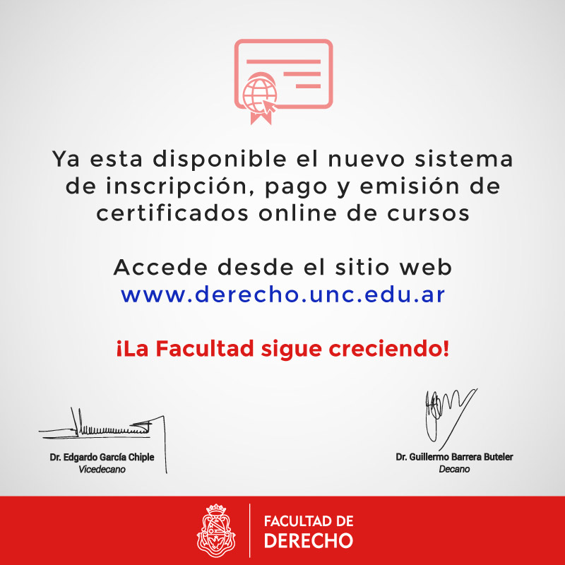 Nuevo Sistema De Cursos Online Facultad De Derecho