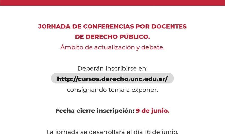 Jornada de conferencias por Docentes de Derecho Público